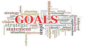 Goals wordcloud — Stock Photo