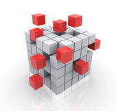 3d cubes — Stock Photo