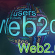 Wordcloud of Web 2.0 — Stock Photo