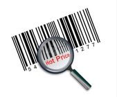 Hot price barcode — Stock Photo