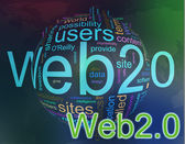Wordcloud van web 2.0 — Stockfoto