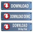 Foto de Stock  : Download button set
