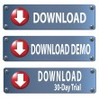 Stock Photo: Download button set