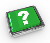 Question mark push button — Stockfoto