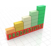 3d productivity propgress bars — Stock Photo