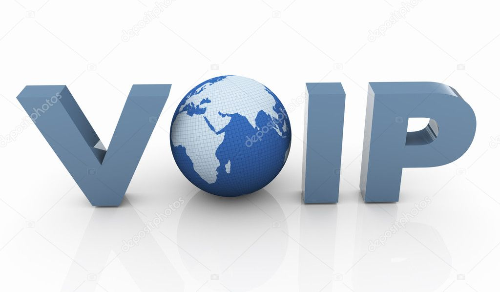 3d render of Voip - Voice Over IP Internet Communication — Stock Photo #8609531