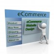 Concept of secure ecommerce web design — Stock Photo