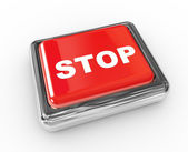 кнопка стоп — Стоковое фото