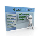 Concept of secure ecommerce web design — 图库照片