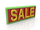3d zlatý text prodej — Stock fotografie