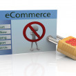 Stock Photo: Concept of secure ecommerce