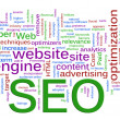 Wordcloud of SEO - Search Engine optimization — Εικόνα Αρχείου #8722386
