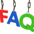 Hanged colorful faq text — Foto Stock