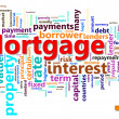 Mortgage wordcloud - Stock Photo