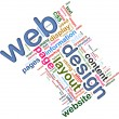 Royalty-Free Stock Photo: Wordcloud of Web design
