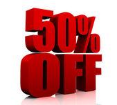 50 procent av — Stockfoto