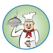 Mutlu aşçı — Stok fotoğraf