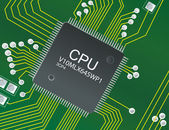 CPU circuit board — 图库照片