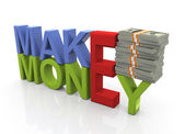 Concept of making money — Stok fotoğraf