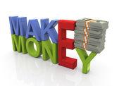 Pojęcie zarabiania pieniędzy — Zdjęcie stockowe