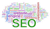 Wordcloud of SEO - Search Engine optimization — Stock Photo