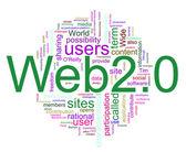 Wordcloud of Web 2.0 — Stock Photo