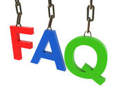 Hanged colorful faq text — Stock Photo