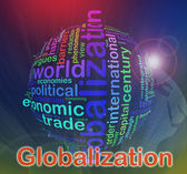 Globalizace wordcloud — Stock fotografie