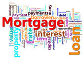 Mortgage wordcloud — Stock Photo