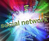 Begreppet socialt nätverk — Stockfoto