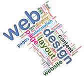 Wordcloud of Web design — 图库照片