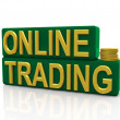 Online trading — Stock Photo