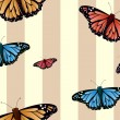 Stock Photo: Seamless butterflies