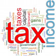 Wordcloud of Income tax — Stock Photo