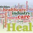 Wordcloud of Healthcare — Stok Fotoğraf #8964462