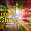 Chain supply management wordcloud - Stock Photo