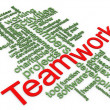 Stock Photo: 3d Wordcloud of teamwork