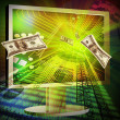 Stockfoto: Concept of online making money