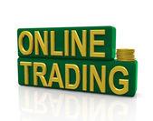 Online trading — Stock Photo