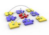 ネットワークをパズルします。 — ストック写真