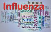 Wordcloud гриппа — Стоковое фото