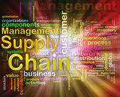Chain supply management wordcloud — Stockfoto