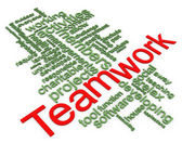 3d wordcloud der teamarbeit — Stockfoto