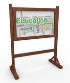 3d educazione wordcloud — Foto Stock