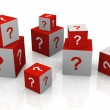 Question mark cubes — Stock Photo #8997882