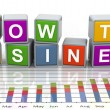 3d buzzword text 'grow the business' — Stock Photo