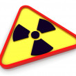 3d radioactive radiation symbol — Photo