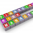 3d FRM - financial risk manager — Stock Photo #8998598