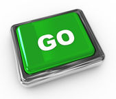 "Push button ""go"" — Stockfoto"