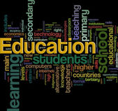 Education wordcloud — Stock Photo